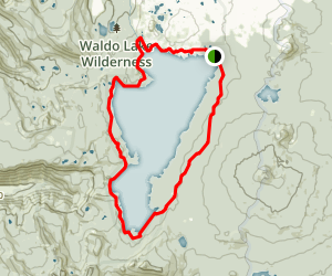 Waldo Lake Trail Map
