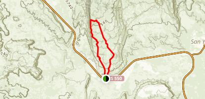 Red Mesa Loop San Ysidro Map