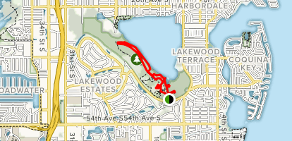 Main and Lakeside Trail Loop Map