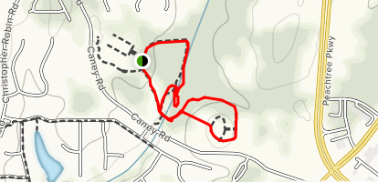 Caney Creek Preserve Trail Map