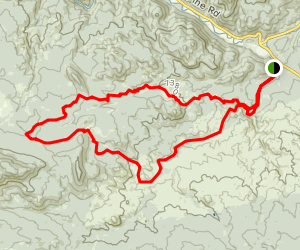 Baldy Trail, Homestead Trail, and Sandy Wash Trail Map