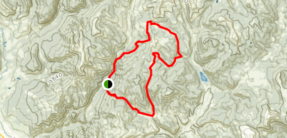 Italian Creek, Flag Creek, Bear Creek, Deadmans Gulch Loop Map