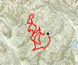 Bear Creek to Deadmans Gulch, Doubletop, Brush Creek, and Red Ridge Loop  Map