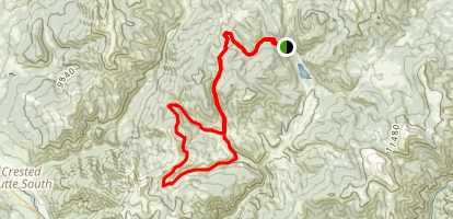 Bear Creek and Deadmans Gulch Map