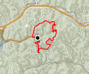 Mountwood Trail Network:  White Oak Ridge and Little Gnarly Loop Map