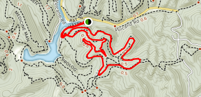 Mountwood Trail Network: Haystack and Collar Bone Loop Map