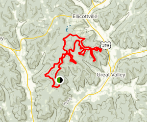 Rock City and McCarthy Hill Loop Map