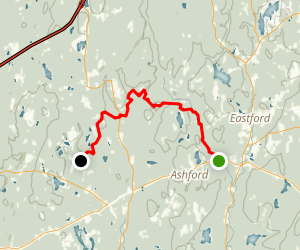 Natchuag and Nipmuck Trail: Route 44 to Perry Hill Map