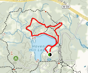 Haven Hill Lake and Woods Loop Map