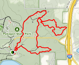Pokagon Trail 3, 6, and 9 Map