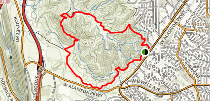 Green Mountain MTB Loop Map