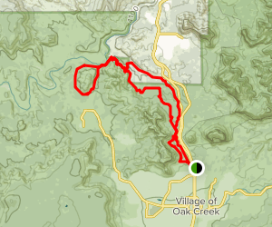 Cathedral Rock Mountain Bike Loop Map