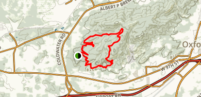 Coldwater Mountain Bike Loop- Bomb Dog, Mama, Papa, and Baby Bear Trails Map