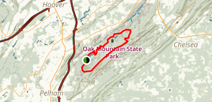 Oak Mountain State Park MTB Loop Map