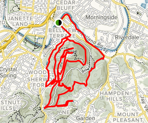 Mill Mountain Full MTB Loop Map