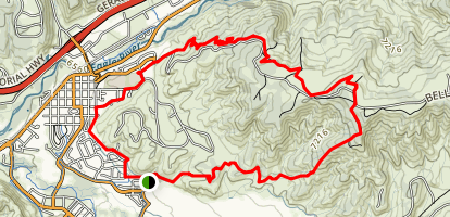 Boneyard to Pool and Ice Rink Trail  Map