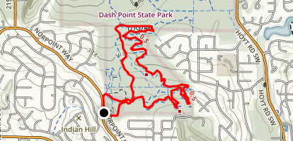 Dash Point State Park Mountain Bike Trails Map