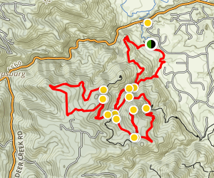 Meadown Lark to to Red Mesa, Plymouth Mountain and Plymouth Creek Loop Map