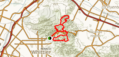 Turnbull Canyon Loop Trail Map