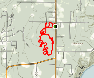 Banner Forest Mountain Bike Loop Map