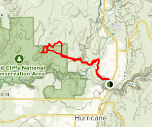 Virgin River Confluence to Sandstone Mountain Loop Trail Map