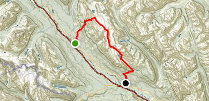 Protection Mountain Traverse  Map