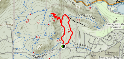 Three Sisters via Sisters and Hidden Fawn Trail Loop Map