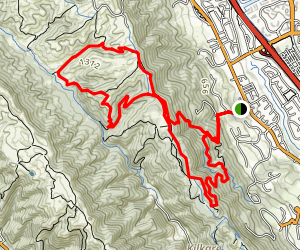 Shady Creek Trail to Ridgeline Trail Loop Map