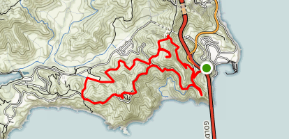Slacker Hill and Hawk Hill via Coastal Trail  Map