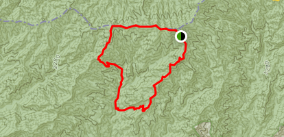 Forney Ridge to Silers Bald to Clingman Loop Map