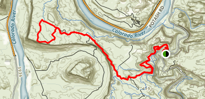 Amasa Back and Cliffhanger MTB Loop Map