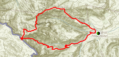 Cathedral to uMlambonja Valley Loop Map