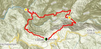 Colca Canyon Multi-Day Trek Map