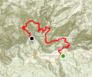 Colca Canyon Two Day Trek Map