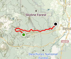 North Fork to Mrazek Trail Map