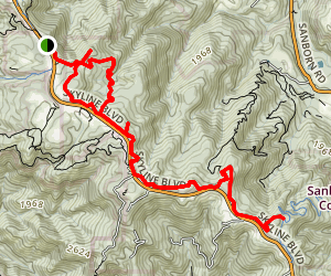 Summit Rock Loop and Skyline Trail Map