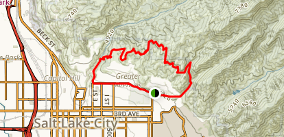 Bonneville Shoreline Trail to Valley View Trail Map