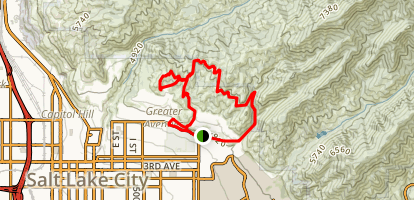 Bonneville Shoreline Trail to Valley View Ridge Loop and Terrace Trail Map
