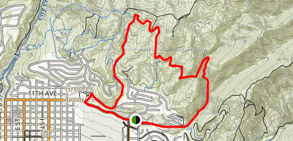 Bonneville Shoreline Trail to Bobsled Trail Loop Map
