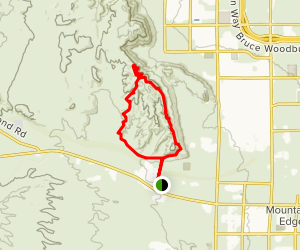 Southwest Ridge Loop Trail Map