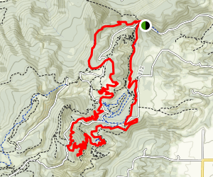 8 Track Trail to Mitchell Ridge Trail- Post Canyon (CLOSED) Map