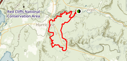JEM Trail to Hurricane Rim Loop Map