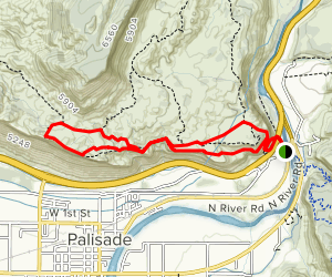 Stagecoach and North Pali Rim Trail Map