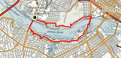 James River MTB Loop Map