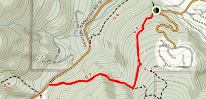 Coal Mine and West Access Trail Map
