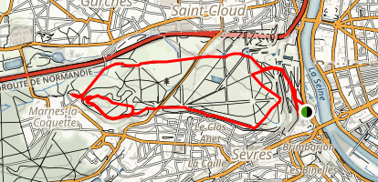 Parc de Saint-Cloud Loop Map