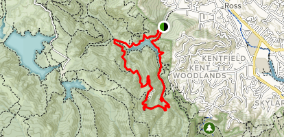 Tucker Trail, Eldridge Grade Fire Road, and Shaver Grade Road Loop Map