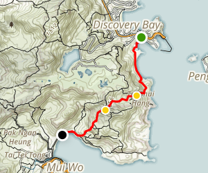 Discovery Bay to Mui Wo via Monastery Map