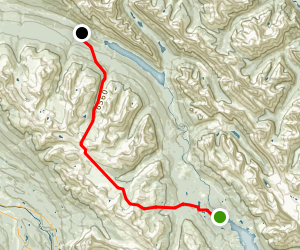 Skyline Trail: Maligne Lake to Watchtower Map