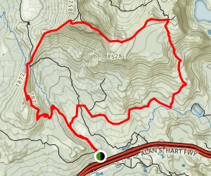 Castle Peak Loop Map